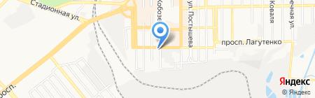 Оранта на карте Донецка