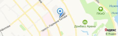 Акам на карте Донецка