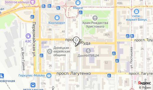 Киевский лабораторный центр. Схема проезда в Донецке