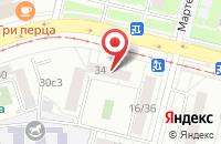 Схема проезда до компании Файберпро в Москве