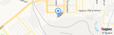 Баурест на карте Донецка