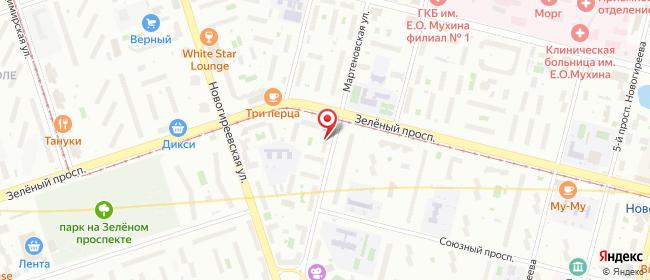 Карта расположения пункта доставки Москва Мартеновская в городе Москва
