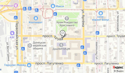 Киаро. Схема проезда в Донецке