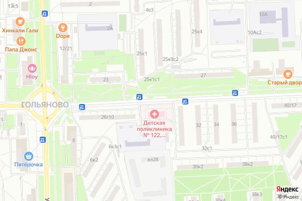 Ремонт телевизоров Улица Байкальская на яндекс карте
