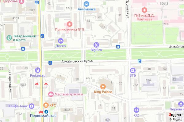 Ремонт телевизоров Измайловский бульвар на яндекс карте
