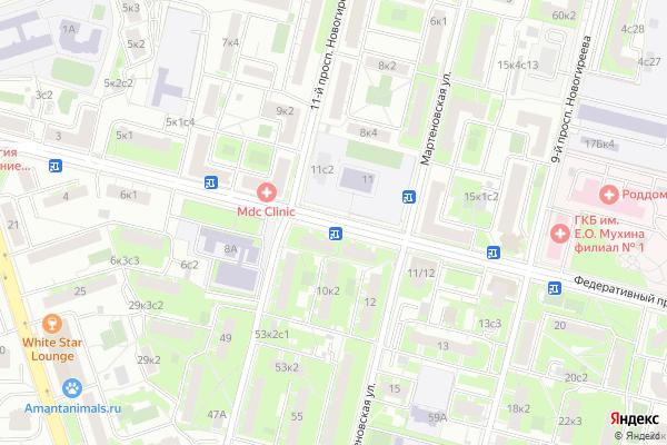 Ремонт телевизоров Федеративный проспект на яндекс карте