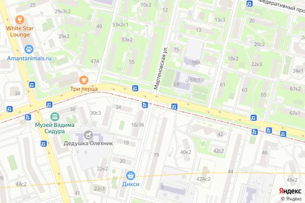 Ремонт телевизоров Улица Мартеновская на яндекс карте