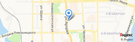 Студгородок на карте Донецка