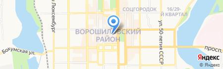 Loft на карте Донецка