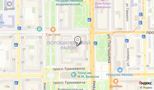 Loft. Схема проезда в Донецке