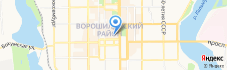 Deluxe travel center на карте Донецка