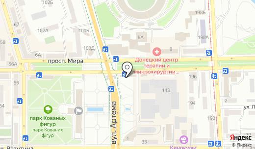 Кокетка. Схема проезда в Донецке