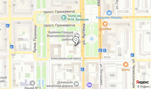 Коммунсервис. Схема проезда в Донецке