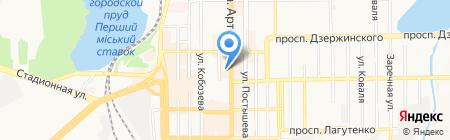 LEVEL на карте Донецка