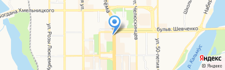 Шериф Тур на карте Донецка