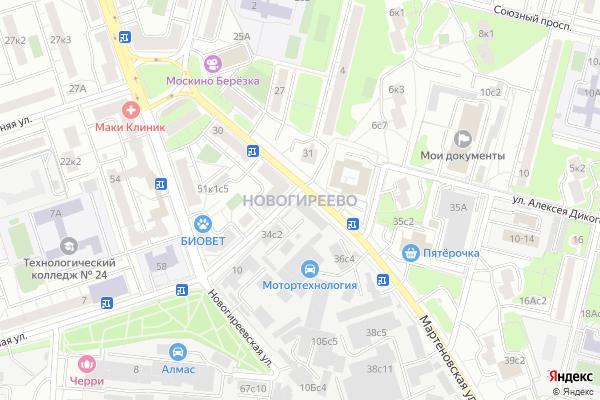 Ремонт телевизоров Район Новогиреево на яндекс карте