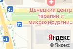 Схема проезда до компании Авиа вояж в Донецке