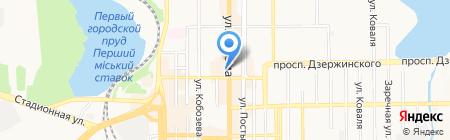 Maxima на карте Донецка