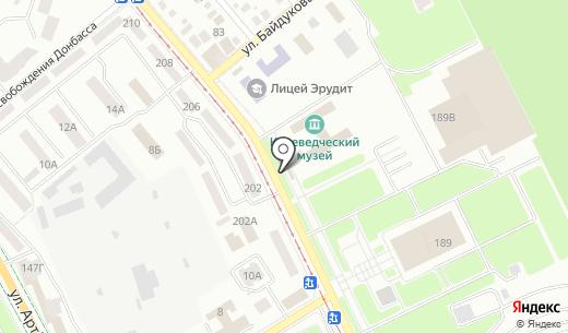 Квіткова крамниця магазин. Схема проезда в Донецке