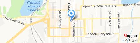Школа эстетики на карте Донецка
