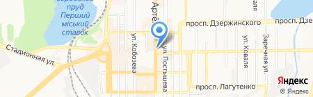 Гарт СП на карте Донецка