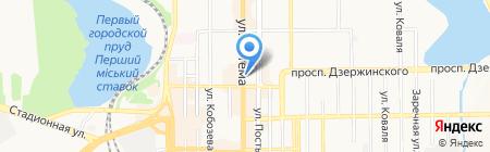Здравица на карте Донецка