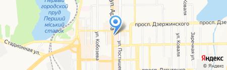 Оперативная реклама на карте Донецка