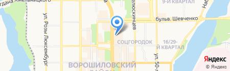 Велтлинер на карте Донецка