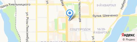 Индиго на карте Донецка