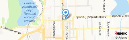 Сано на карте Донецка