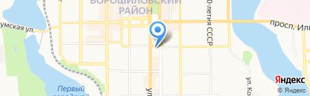 Министерское на карте Донецка