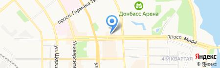 Romtour на карте Донецка