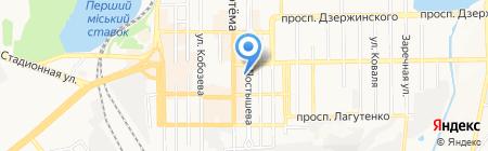 Донмаш на карте Донецка