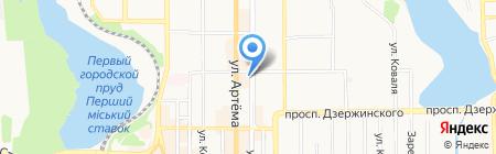 Цветочный домик на карте Донецка