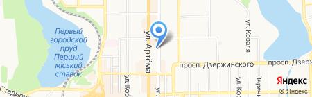 Спас на карте Донецка