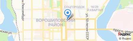 Киоск по продаже фастфудной продукции на карте Донецка