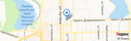 Старый шансон на карте Донецка