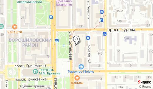 Климат Маркет. Схема проезда в Донецке
