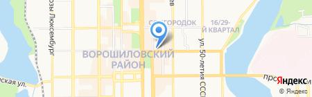 Легенда на карте Донецка
