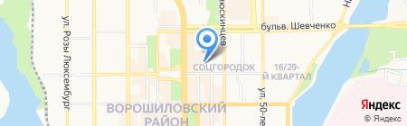 Снабсервис на карте Донецка