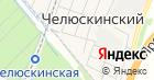 Челюскинский на карте