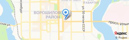 Дезире на карте Донецка