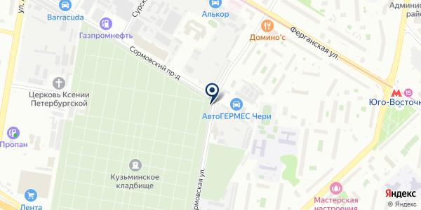 Автостоянка на карте Москве