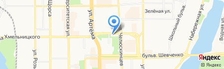 Цветы магазин на карте Донецка