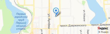 Банкомат АКБ Индустриалбанк ПАО на карте Донецка