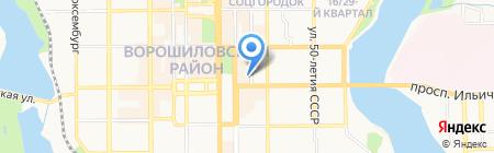 Шахтер Украины на карте Донецка