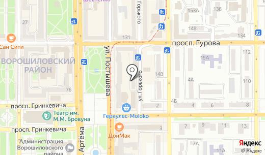 Банкомат ОЩАДБАНК ПАО. Схема проезда в Донецке
