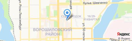 Ле Мурано на карте Донецка