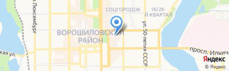 Акари на карте Донецка