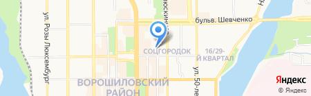 Дина на карте Донецка